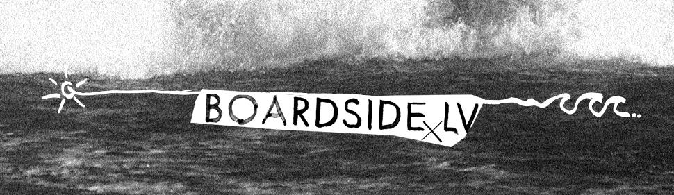Boardside.lv garo roku krekls   logo grafika