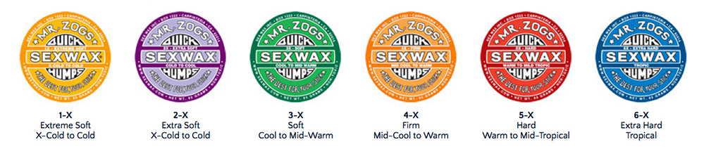 SexWax Quick Humps labels | Boardside.lv surfing